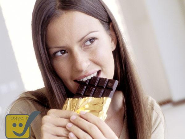 زیبایی و جوانی با شکلات تلخ