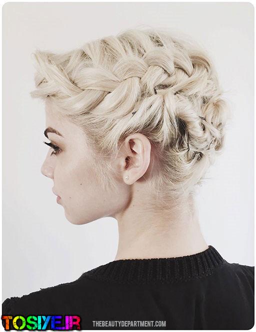 مدل شنیون برای موهای کوتاه