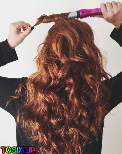 سشوار کردن برای حالت بهتر موهای فر