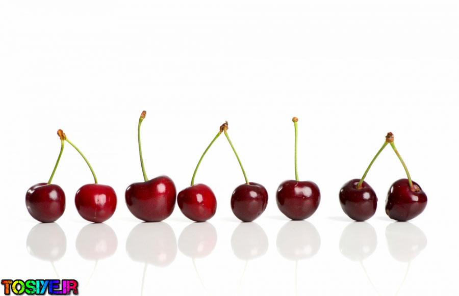گیلاس، انبه، انگور و آناناس