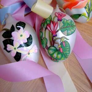 نقاشی روی تخم مرغ برای هفت سین +عکس